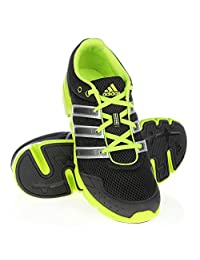 Men's Adidas Performance Breeze 101 M Series Running Shoes, Black/Neon green, Size: 12