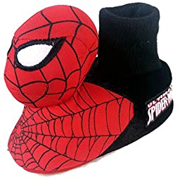 Marvel Spiderman Toddler Boy\'s Sock Top Slippers (9-10)