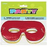 Eye Masks Foil - Assorted Colours - Pack of 8