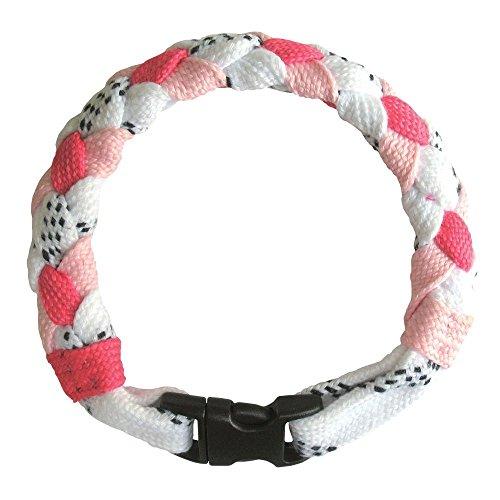 A&R Sports Hockey Lace Bracelet, Pink - 1