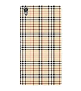Checks Pattern Cute Fashion 3D Hard Polycarbonate Designer Back Case Cover for Sony Xperia C6