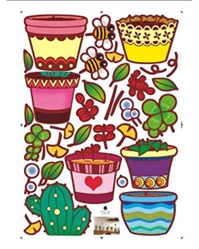 Ambiance Live Vinile Decorativo Flowerpot and cactus