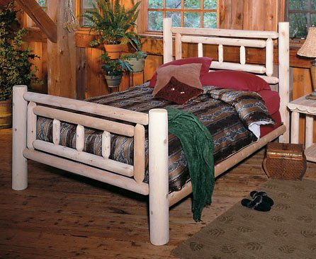 Rustic Natural Cedar Furniture Deluxe Log Wood