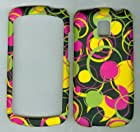 Black Pink Yellow Dot Circle Faceplate Hard Case Protector for Lg Thrive P506...