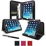rooCASE Apple iPad Air (5th generation iPad) Executive Portfolio Leather Case Cover - Black