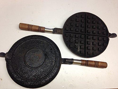 Antique Wagner Ware Waffle Iron Cast Iron
