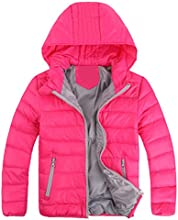 iBaste Kids Ultra Light Down Coat Cotton Feather Jacket With Hood