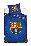 Maxi & Mini (FCB8019)  FC Barcelona Duvet Cover Bedding Set Duvet Cover 160 x 200 cm + Pillowcase 70 x 80 cm –Decorative Teenagers' Room