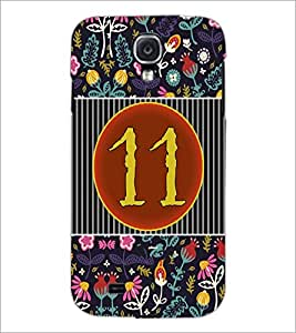 PrintDhaba Numerology Number 11 D-3098 Back Case Cover for SAMSUNG GALAXY S4 (Multi-Coloured)