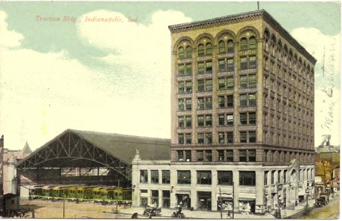 1913 Vintage Postcard Traction Building Indianapolis