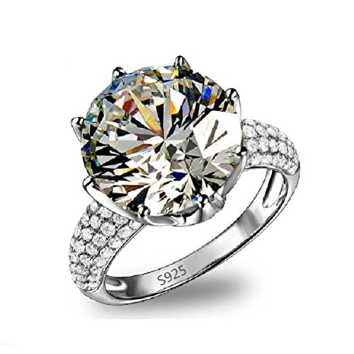 Superhai Shiny Crown Classic Fine Diamond Wedding Ring Engagement Ring Women