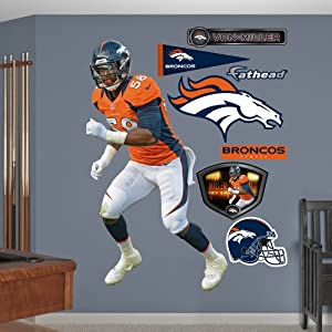 NFL Denver Broncos Von Miller Home Wall Graphics by Fathead