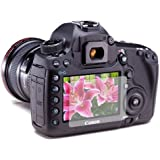 6 x Clear LCD Screen Protectors for Canon EOS 5D Mark 3 III DSLR - Anti-Scratch Guard / Display Savers