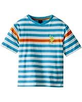 U.S. Polo Assn. Big Boys' Engineered-Stripe V-Neck T-Shirt