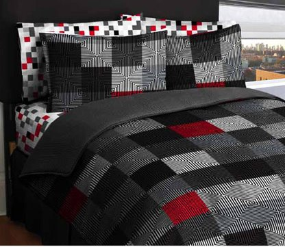 Bed In A Bag Loft Living Geo Twin Blocks Bed In A Bag
