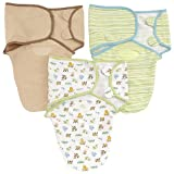 Summer Infant 3 Pack Cotton Knit Swaddleme, 7-14 Lb, Small/Medium