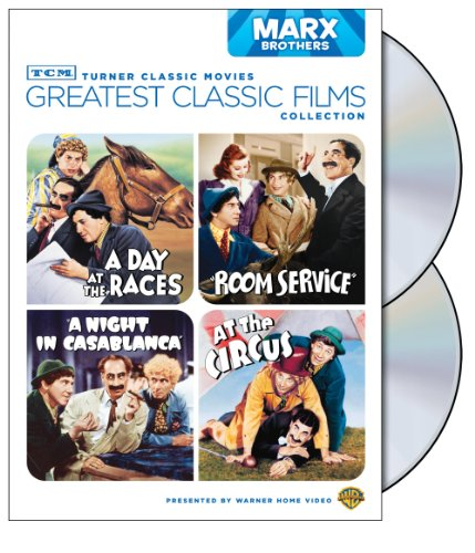 Cover art for  TCM Greatest Classic Films Collection: Marx Brothers (A Day at the Races / A Night in Casablanca / Room Service / At the Circus)