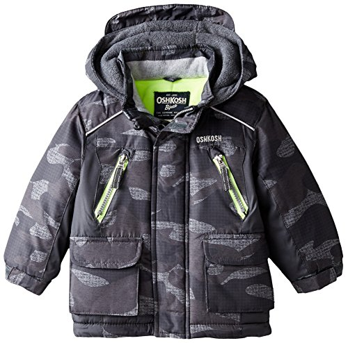 Osh Kosh Baby Boys' Heavyweight Single Jacket, Camo/Multi-Color, 12 Months