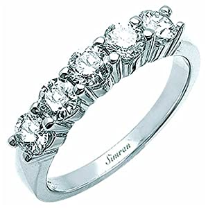 JewelryDays Five Stone Diamond Wedding Band at Sears.com