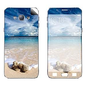 Skintice Designer Vinyl Skin Sticker for Samsung Galaxy A8, Design - Sea beach