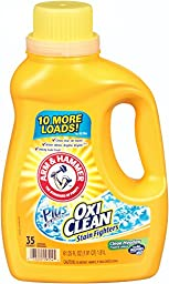 Arm & Hammer 33200-09554 Liquid Laundry Detergent Plus OxiClean, Clean Meadow, 61.25 oz (Pack of 6)