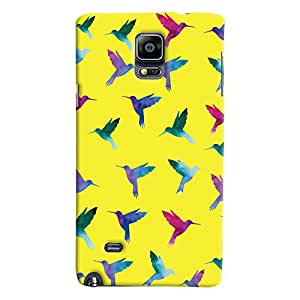 ColourCrust Samsung Galaxy Note 4 Mobile Phone Back Cover With Bird Pattern - Durable Matte Finish Hard Plastic Slim Case