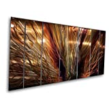 "Large Abstract Metal Wall Art ""ZION"" by Artist Ash Carl ~ ASH CARL"