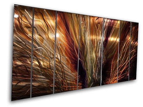 Metal wall art by ash carl for Large panel wall art