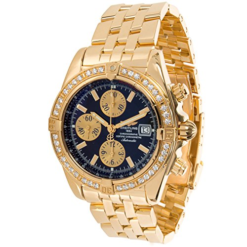 Breitling Chronomat Evolution Chronograph K13356 Mens Watch in 18K Yellow Gold (Certified Pre-owned)