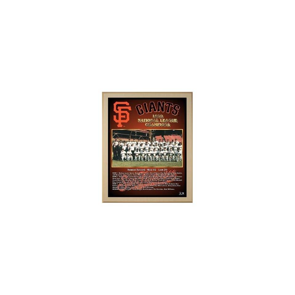 1989 National League Champions San Francisco Giants Championship Team Photo Plaque (you choose color & size)