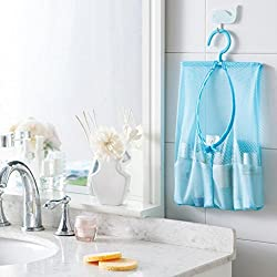 Evana 1Pcs Hang Mesh Bag Clothes Storage Laundry Net Travel Bags Hanging For Bathroom Organizer Closet Rack Hangers (Assorted Colors)