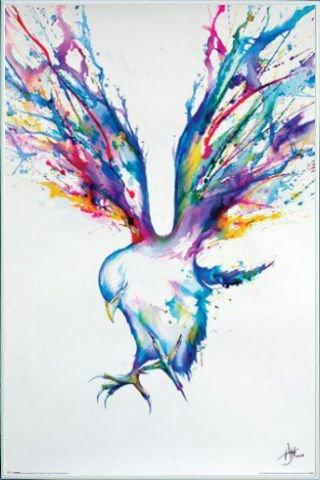 Uccelli Poster Stampa e Cornice (Plastica) - Bird, Marc Allante (91 x 61cm)