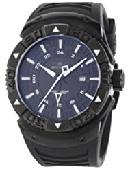 Invicta Men's 0670 II Collection Sea Scavenger GMT Black Dial Black Polyurethane Watch