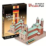 3D Jigsaw Puzzle - Speyer Cathedral, Germany : Model parts : 84 pcs