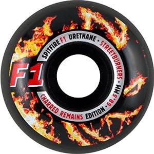 Buy Spitfire F1 Street Burner Charred 58.5mm Skateboard Wheels (Set Of 4) by Spitfire Clothing - Wheels