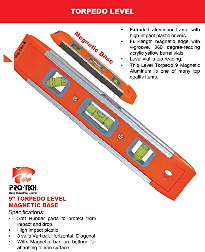 Pro-Tech-986B-Magnetic-Torpedo-Level-(9-Inch)
