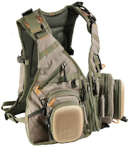 Airflo Fishing Luggage Vest  &  Backpack - Olive Khaki