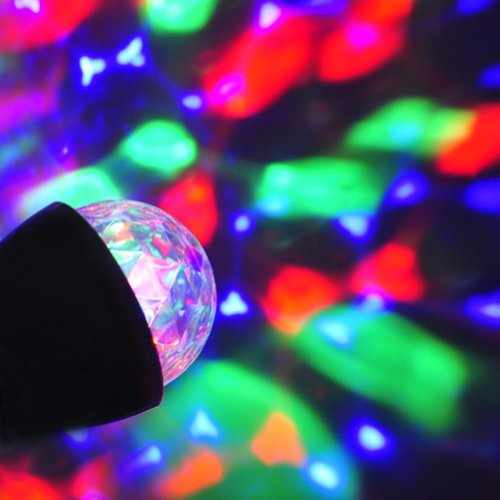 Lanlan E27 Rgb Rotating Lamp Crystal Ball Stage Lights Led For Party Disco Dj Bar