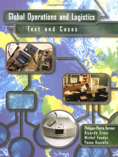 Global Operations And Logistics: Text And Cases front-496071