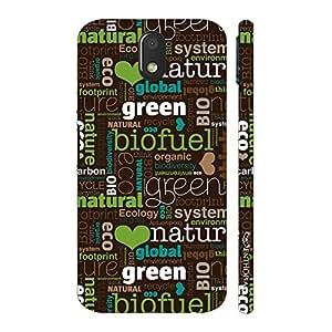 Enthopia Designer Hardshell Case Go Green Back Cover for Motorola Moto E (3rd Gen)
