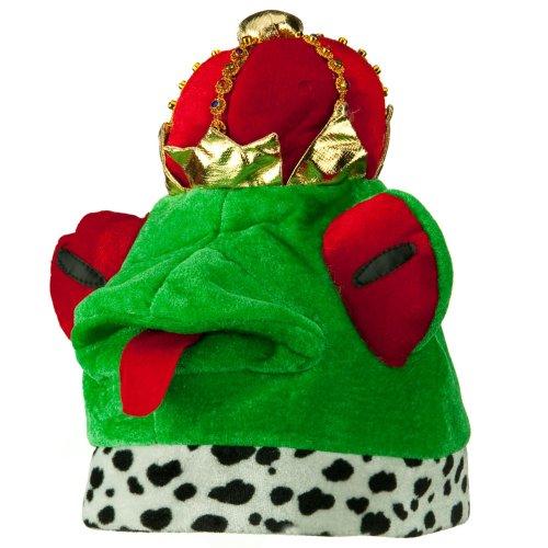 [Velvet Animal Hat - Frog Prince OSFM] (Prince Frog Costumes)
