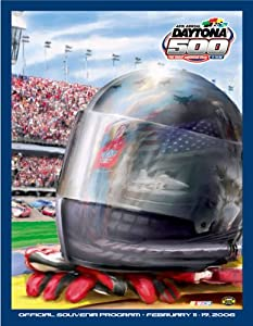 NASCAR Canvas 36 x 48 Daytona 500 Program Print Race Year: 48th Annual - 2006 by Mounted Memories