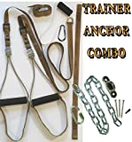 WOSS Trainer - Anchor Combo, Equalizer 3000 Trainer Brown, and Stainless Steel Oblong Eye Pad Anchor Mount 600 pound working weight and 2 ft of Chain