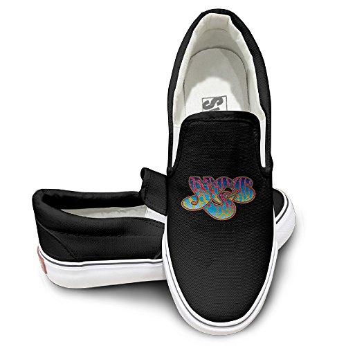 Custom Cool Sport Shoes Yes Band Dancing Black