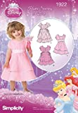 Simplicity Sewing Pattern 1922 Toddler's Dresses Disney Princess, Size A (1/2-1-2-3-4)