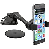 Arkon Windshield or Dash Smartphone Car Mount for Apple iPhone 6S 6 Plus iPhone 6S 6 5 5S Samsung Galaxy S6 S5 Note 5 4 LG G3