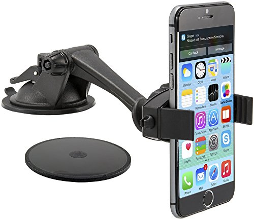 Arkon Windshield Or Dash Smartphone Car Mount For Apple Iphone 6 Plus Iphone 6 5 5S 5C Samsung Galaxy Note 4 3 S5 S4 Fire