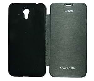 Helix Flip Cover For Intex Aqua 4G Star