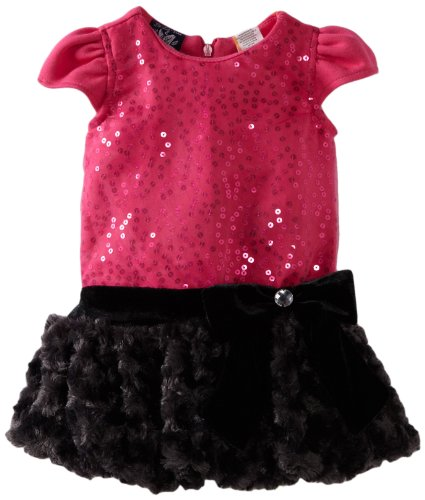 So La Vita Baby-Girls Infant Sequined Bodice Dress, Fuschia, 24 Months front-641819