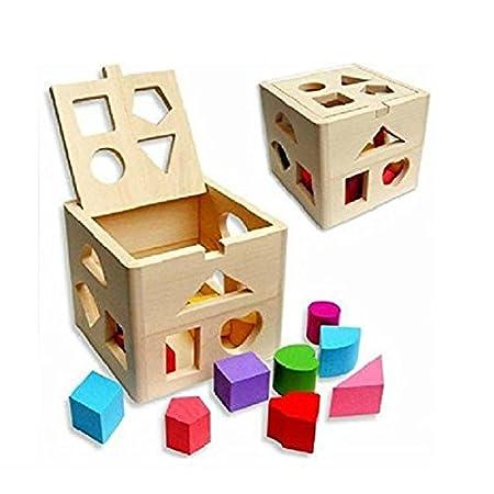 NUOLUX ensemble de blocs de construction en bois éducatif Toddler jouets d'enfants